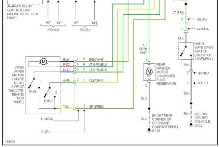 isuzu alarm wiring diagram just another wiring diagram blog • 1999 isuzu rodeo question rear wiper problems electrical problem rh 2carpros com isuzu trooper wiring