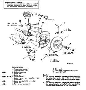 Mitsubishi Mirage 2001 Mitsubishi Mirage Front Wheel Bearing