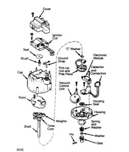 Chevy 305 Distributor Diagram on chevy truck ignition