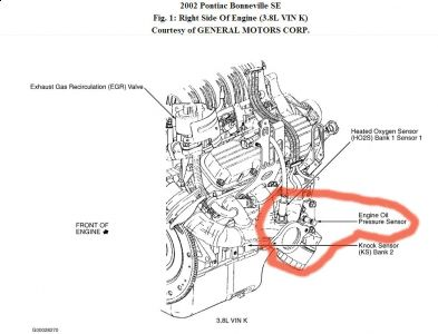 Engine Oil Pressure Switch Location on chrysler pt cruiser engine diagram