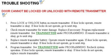 door locks  working electrical problem  cyl  wheel