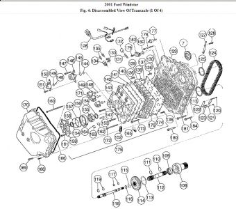 Ford Windstar 2001 Ford Windstar Transmission Assembly Diagram