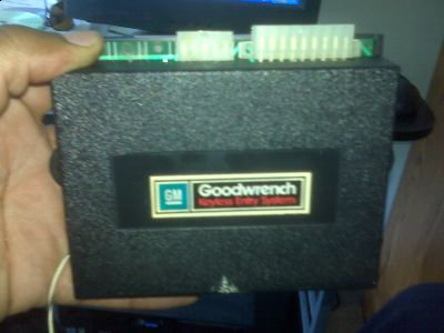 1993 Cadillac Deville Keyless Entry Gm Goodwrench System