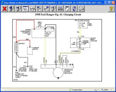 1998 Ford Ranger Charging System: Electrical Problem 1998 Ford ... Ford Ranger Ignition System Wiring Diagram on 1979 ford bronco wiring diagram, ford truck ignition wiring, ford tractor ignition diagram, 1990 f150 fuel pump wiring diagram, ford ranger speaker wire colors, 2010 ford radio wiring diagram, ford 800 tractor wiring diagram, distributor wiring diagram, diesel tractor wiring diagram, 1988 ford bronco wiring diagram, ford starter solenoid wiring diagram, ford ranger starter diagram, 85 ford bronco wiring diagram, ford spark plug wiring diagram, ford alternator wiring diagram, ford wiring harness diagrams, ford truck radio wiring diagram, 1992 f250 starter wiring diagram, ford ranger tail light wiring, 1994 ranger wiring diagram,