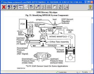 1998 Mercury Mystique P0171 Code Keeps Coming Back | 1998 Mercury Mystique Engine Diagram |  | 2CarPros