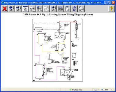 1994 Saturn Sw2 Starter Wiring Diagram Only