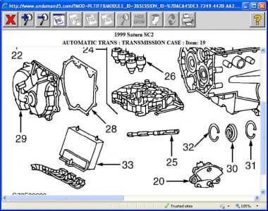 1999 saturn sc2 lost reverse my grandsons 99 saturn suddenly lost rh 2carpros com saturn sl2 transmission diagram saturn transmission parts diagram