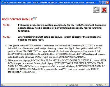 Http Www 2carpros Forum Automotive Pictures 416332 2001 Buick Century Bcm Programing 1