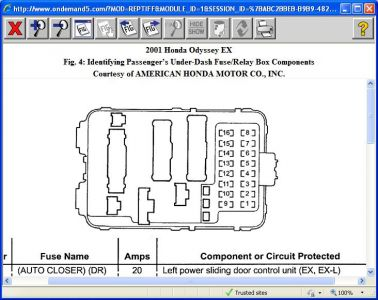 416332_2001_honda_odyssey_dash_lights_part_1_1 2001 honda odyssey brake lights and dash lights won't work 2003 honda odyssey fuse box diagram at crackthecode.co