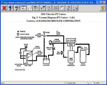 2001 Chrysler PT Cruiser Vacume Leak: How Do I Check for Vacume ... | Pt Cruiser Engine Diagram Vacuum |  | 2CarPros