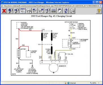2003 ford ranger alternator not charging: electrical ... 2003 ford ranger electrical wiring diagram #1