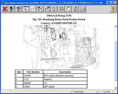 2004 ford f150 brake lights when i push on the brake. Black Bedroom Furniture Sets. Home Design Ideas