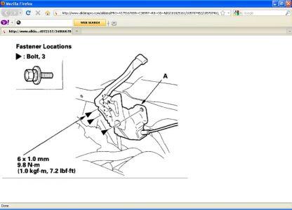 hood latch cable is broken completely hi my honda crv 39 s. Black Bedroom Furniture Sets. Home Design Ideas