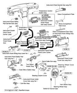 2002 lexus ls 430 removing the mark levinson audo system. Black Bedroom Furniture Sets. Home Design Ideas