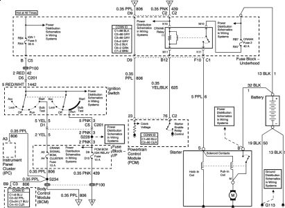 2003 chevy impala no power to pcm fuse \u0026 pcm crank fuse Mustang Fuse Panel Diagram