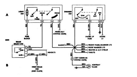 1988 chevy truck light problems engine mechanical problem chevy starter wiring diagram