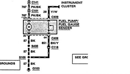 Ford Ranger 1993 Ford Ranger Fuel Pump Connector on wiring diagram for gas gauge