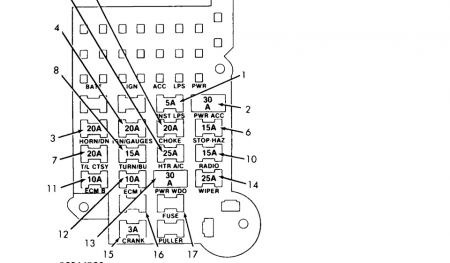 1990 chevy s 10 electrical problem 1990 chevy s 10 4 cyl two rh 2carpros com  1990 chevy s10 fuse box diagram
