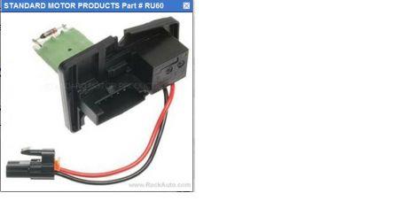 Standard Motor Products on Pontiac Grand Prix Blower Motor Resistor