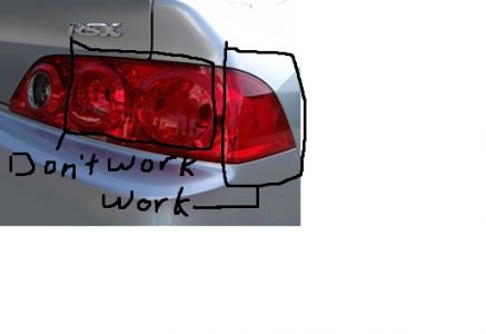 2006 Acura RSX Rear Turn Signal Lights Not Working
