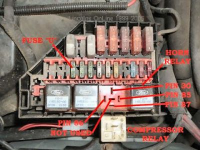 Lincoln Continental 1997 Lincoln Continental Air Ride System on 12v relay wiring diagram