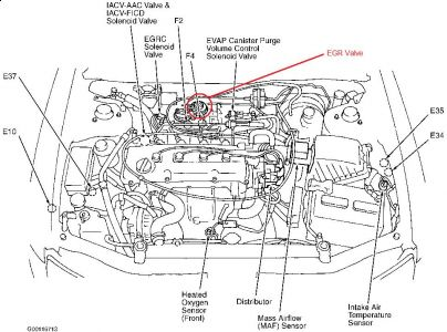 Nissan Altima 2000 Nissan Altima Egr on chevy voltage regulator wiring diagram