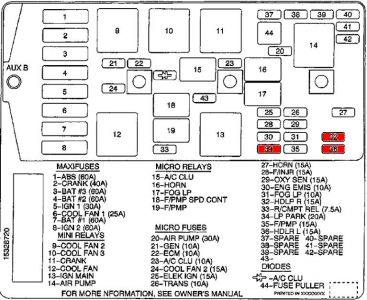 55316_00centuryfusehood_1 2000 buick century 2000 buick century no low beams i changed the 2005 buick century fuse box diagram at fashall.co