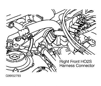Infiniti I30 Bank 2 O2 Sensor Location