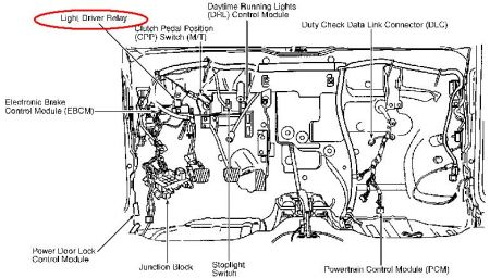 Chevy Daytime Running Lights Module Location on Geo Prizm Steering Diagram