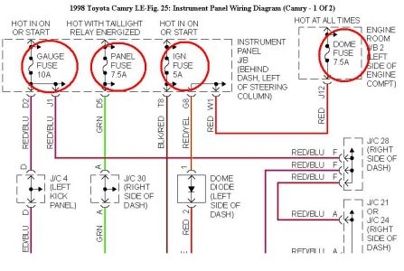 55316_98camrypanel_1 1999 toyota camry fuse box diagram wiring diagram simonand toyota camry fuse box at bayanpartner.co
