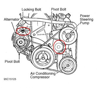Dodge Neon 1998 Dodge Neon Belt Tensioner on wiring diagram alternator toyota