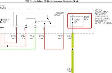 2006 chrysler sebring fuse box diagram 1998 chrysler sebring gage cluster lights: hi, the gage ... #7