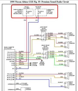 55316_99altimaradio_1 1999 nissan altima audio, cd' radio 1999 nissan altima two wheel 2009 nissan altima fuse diagram at gsmportal.co