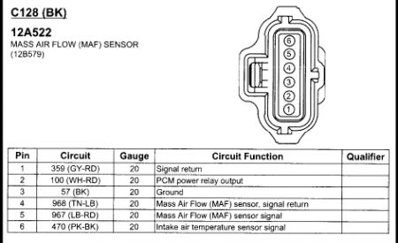 Maf Pinout Escape on Ford Maf Sensor Diagram