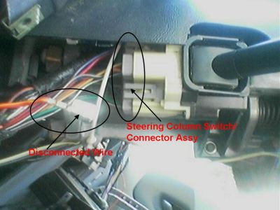 575981_Disconnected_Wire_1 1993 ford ranger steering column switch connnector headli Ford Ranger 4x4 Wiring Diagram at crackthecode.co