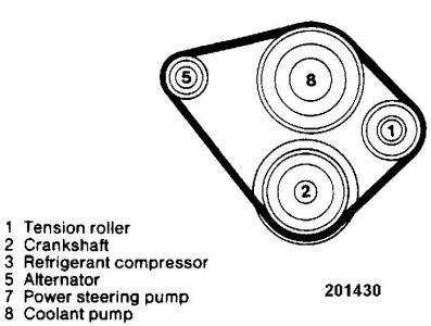 drive belt diagram for merc 1987 260e  i am installing a