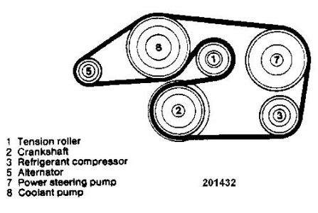 drive belt diagram for merc 1987 260e  i am installing a