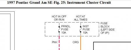 1997 pontiac grand am instrument cluster electrical