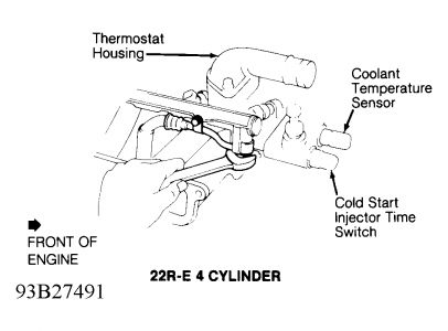 61395_Graphic_157 location of engine coolant temperature sensor four cylinder two engine coolant temperature sensor wiring diagram at bayanpartner.co