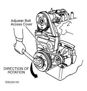 Graphic on 1995 Honda Civic Water Pump