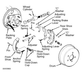 Toyota Corolla 1998 Toyota Corolla Changing The Rear Brake Shoes on 2007 lexus rx350 service manual