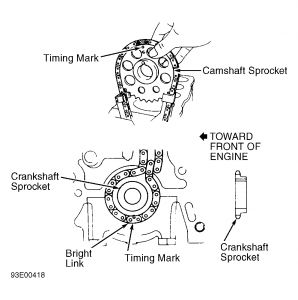 1986 toyota 4runner timing chain alignment  engine