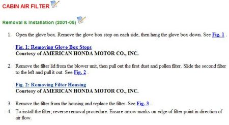 how to change 2005 civic ac air filter