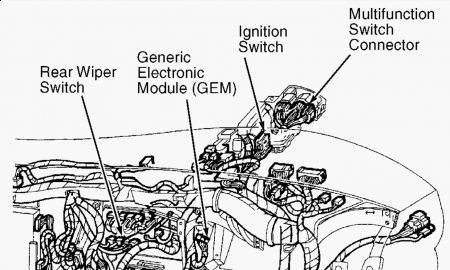 Ford Windstar 1998 Ford Windstar Gem Module on automotive wiring harness