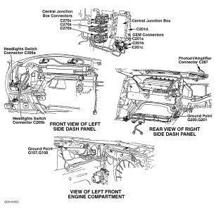 62217_1_4 2001 ford taurus daytime running lights interior problem 2001 99 ford taurus wiring diagram at bayanpartner.co