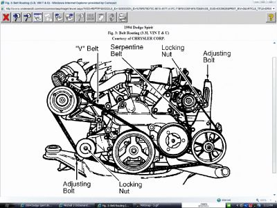 Dodge Spirit 1994 Dodge Spirit Drive Belt Diagram