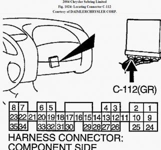3 on Fig 1 Engine Code Location – 4 Cylinder Courtesy