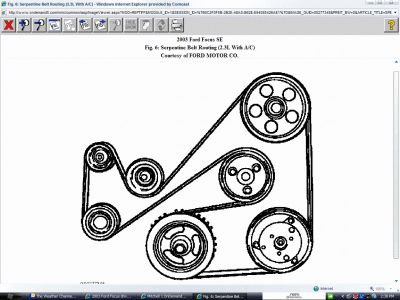 Ford Focus 2003 Ford Focus Drive Belt Diagram