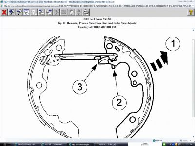 2005 ford focus rear brake diagram