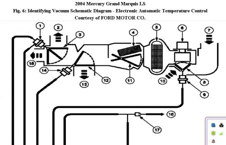 2004 Mercury Marquis Ac Control Unit Vacumn Lnes